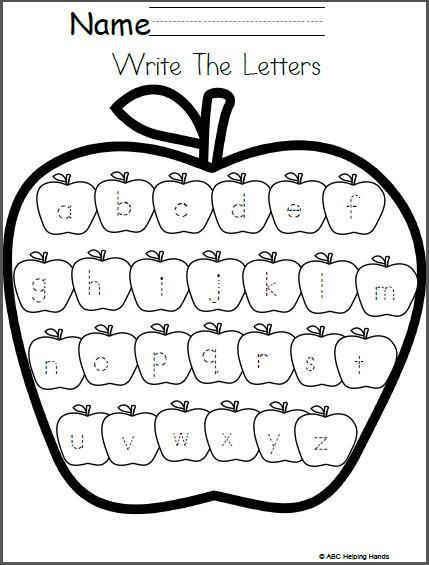Free Editable Lowercase Letter Writing Worksheet Apples Theme