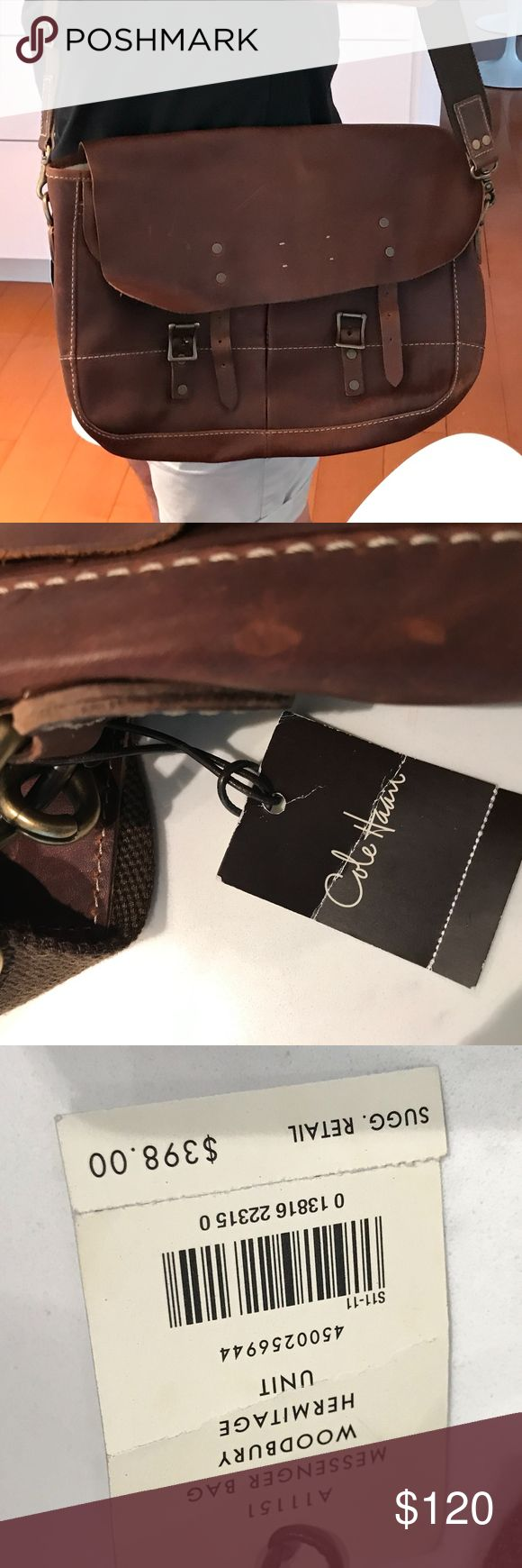 Cole Haan Brand New Messenger Bag Never used! Cole Haan BrifeCase/Messenger bag Woodbury Hermitage Unit. Retail at $398. 15x10x3.5 Cole Haan Bags Laptop Bags