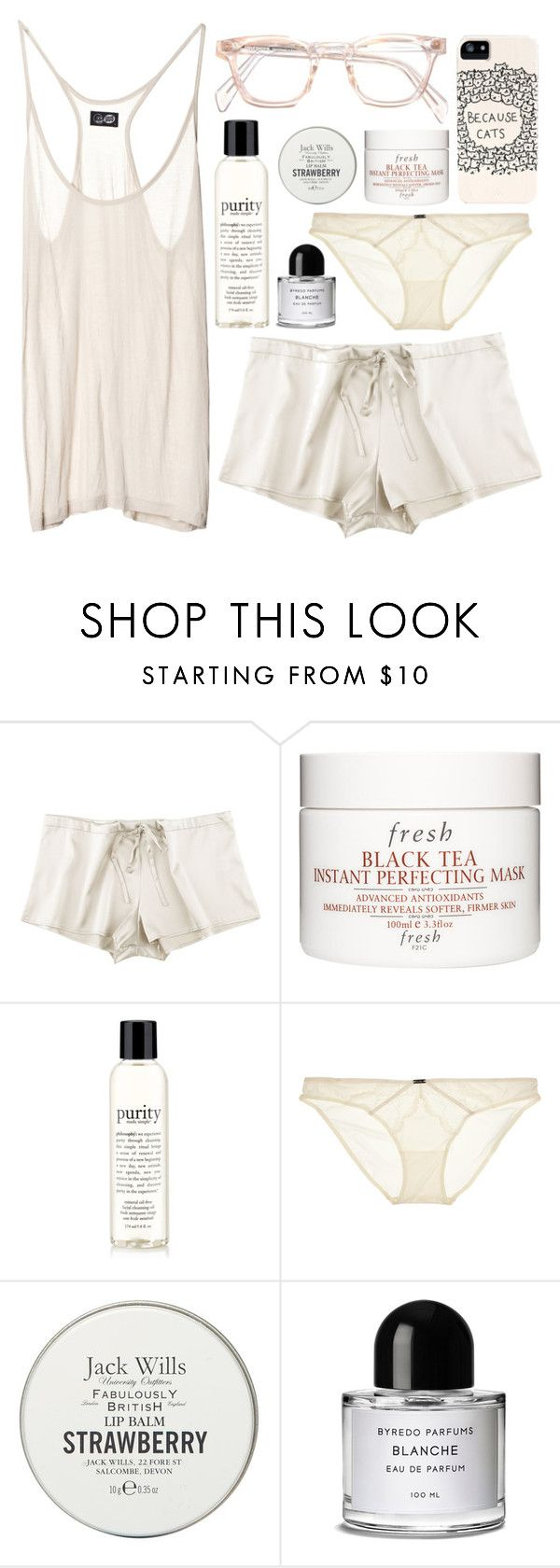 """Cuddle With Me"" by alayaya ❤ liked on Polyvore featuring JULIANNE, Fresh, philosophy, Calvin Klein Underwear, Cheap Monday, Jack Wills and Byredo"