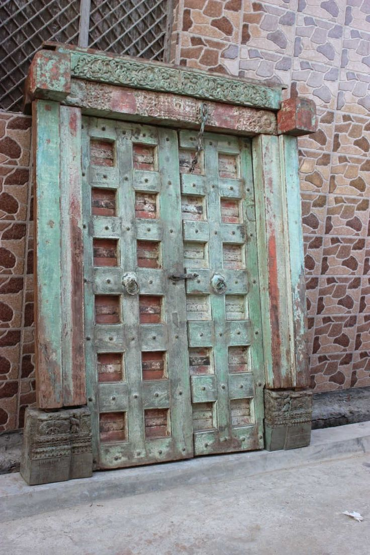 Old Indian Doors And Door Frame | Architectural Pieces Australia | Shikara Design