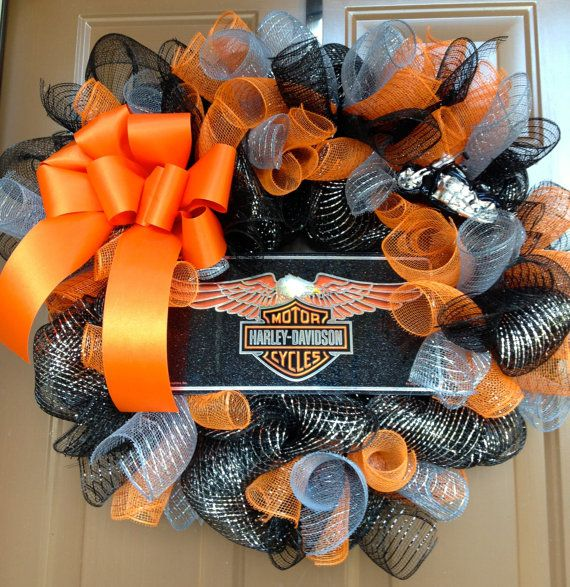 Harley Davidson Motorcycles Wreath by marinascustomdesigns ...