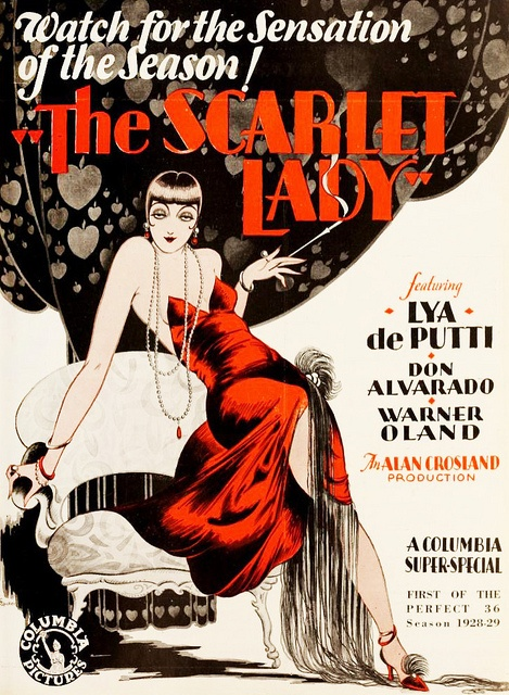 The Scarlet Lady (1928) - it's the sensation of the season! #vintage #1920s #movies #posters