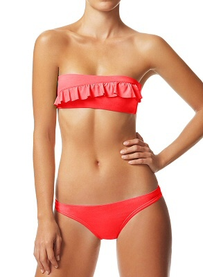 i love how simple the ruffle is...: Bandeau Bikini, Ruffles Bottoms Swimsuits, So Cute, Low Swimsuits, Bandeau Tops, Suits Website, Ondademar Swimwear, Bath Suits, Swim Suits