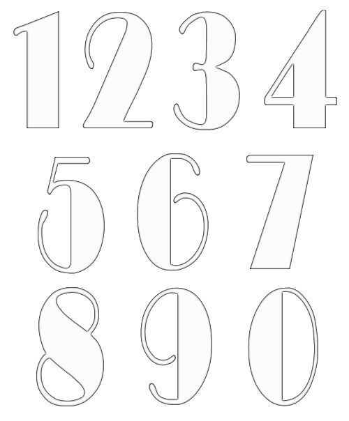 Best 25+ Number fonts ideas on Pinterest Number tattoo fonts - numbers templates free