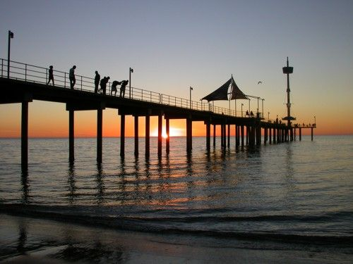 Brighton jetty, South Australia. Photograph by Liz Powley.