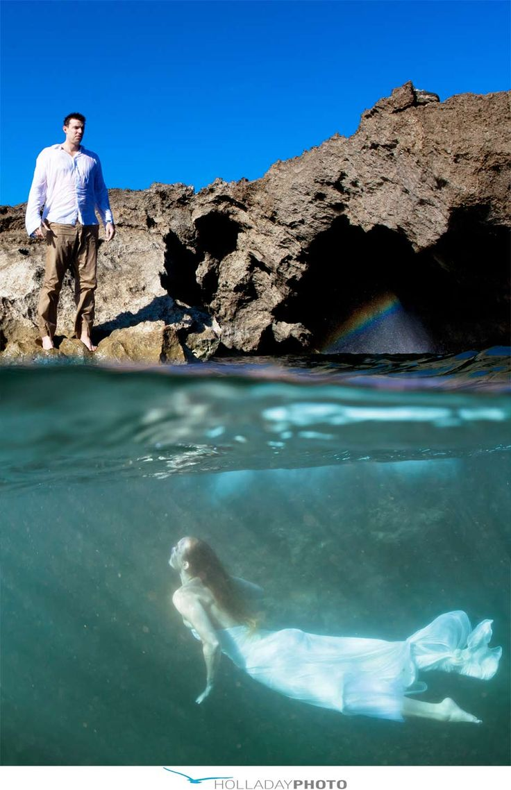I would trash my dress any day for this!  Beautiful!  Underwater photography by Holladay