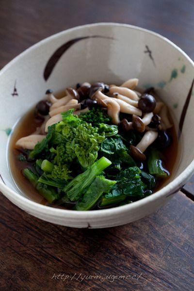 菜の花としめじのおひたし by ゆりりさん | レシピブログ - 料理ブログ ...