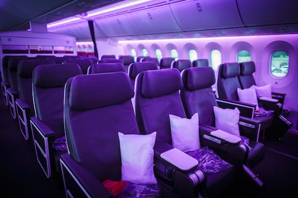Virgin Atlantic Birthday Girl Premium Economy Cabin/Virgin Atlantic