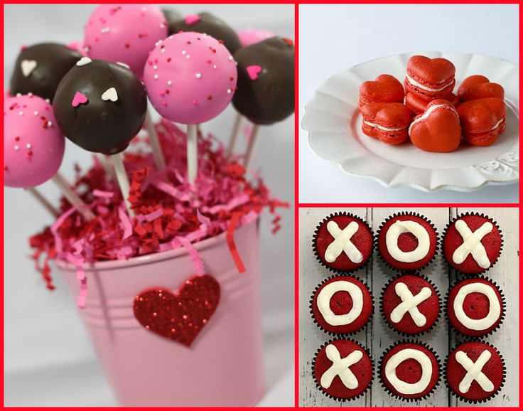 valentine's day sweets, food and drink