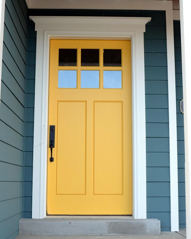 Starting to crave a sunny yellow front door.  DIY Blogger house