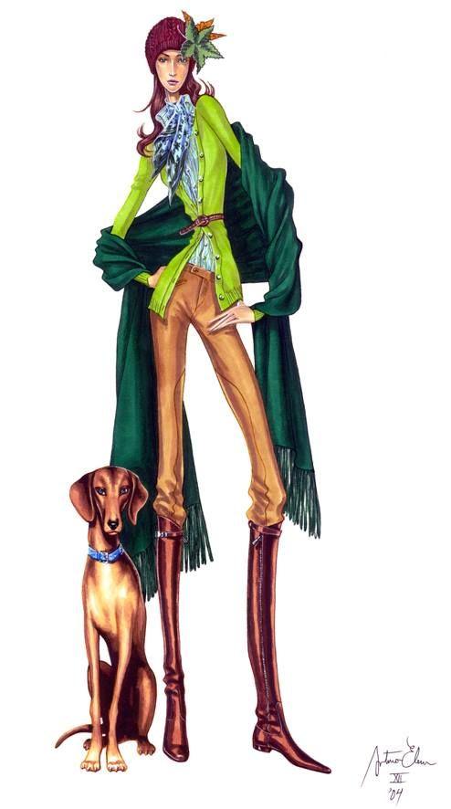 Ilustraciones. Arturo Elena, Revista Mujer  Hoy, Tendencias 2004