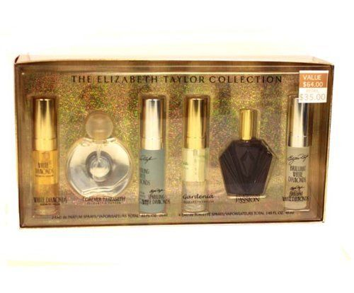 ELIZABETH TAYLOR COLLECTION Perfume. 5 PC. GIFT SET ( WHITE DIAMONDS EAU DE PARFUM SPRAY 0.33 oz + FOREVER EAU DE PARFUM SPRAY 0.5 oz + SPARKLING WHITE DIAMONDS & BRILLANT WHITE DIAMONDS EAU DE TOILETTE SPRAY 0.33 oz + PASSION EAU DE TOILETTE SPRAY .5 oz ) By Elizabeth Taylor - Womens by Elizabeth Taylor. $35.00. This fragrance ships for as low as $5.99. 99Perfume offers many great sales and discounts making this fragrance cheaper than at department stores.. 99Perfume will nev...