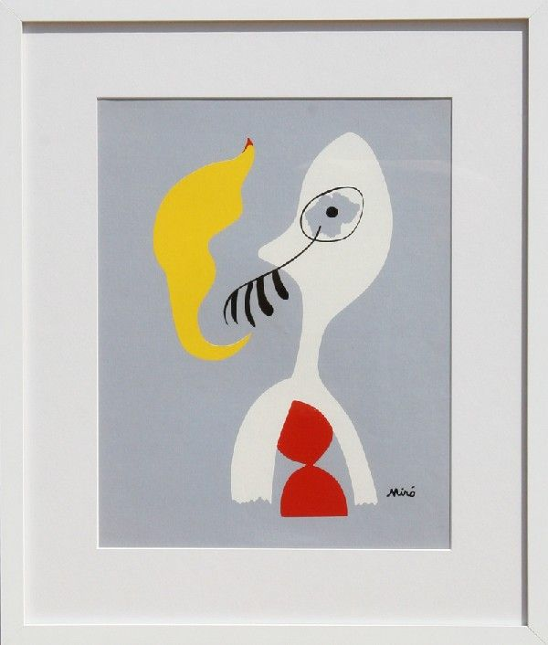 305: Joan Miro, Man Smoking Pipe, Lithograph : Lot 305