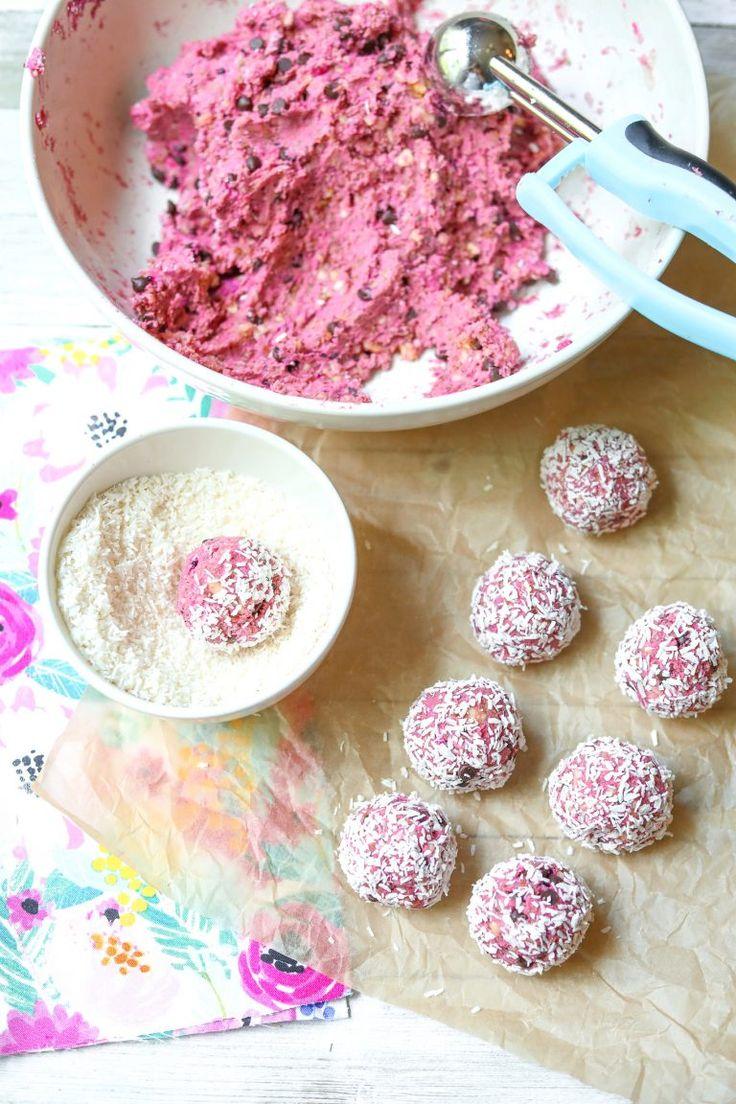 Dragon Fruit & Chia Almond No-Bake Protein Energy Balls - Simply Taralynn