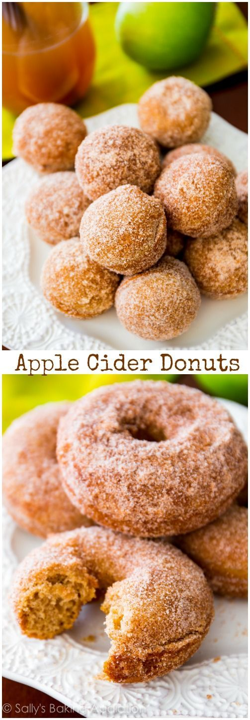 Use this recipe to make donut holes or donuts. Super-moist, soft, and perfectly apple cider flavored for cozy fall mornings!