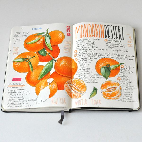Anna Rastorgueva's Recipe journal 2014 on Behance
