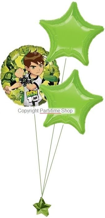 The Ben 10 Party Balloon Kit is a perfect accessory to complement your Ben 10 themed party. This kit includes helium canister, ribbon, ballooons and balloon weight.