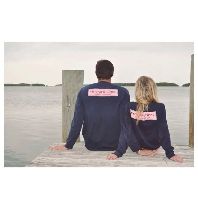 Adorable preppy Vineyard Vines couple