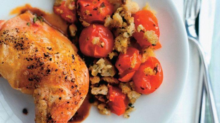Pečené kura so zapekanými paradajkami | Recepty.sk