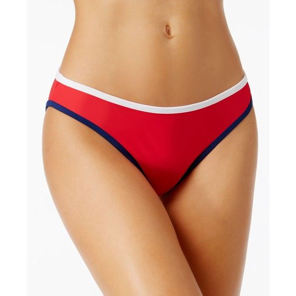 California Waves America Hipster Bikini Bottoms ($28) ❤ liked on Polyvore featuring swimwear, bikinis, bikini bottoms, bottom bikini, hipster bottom bikini, bikini bottom swimwear, blue and white bikini and hipster swimwear
