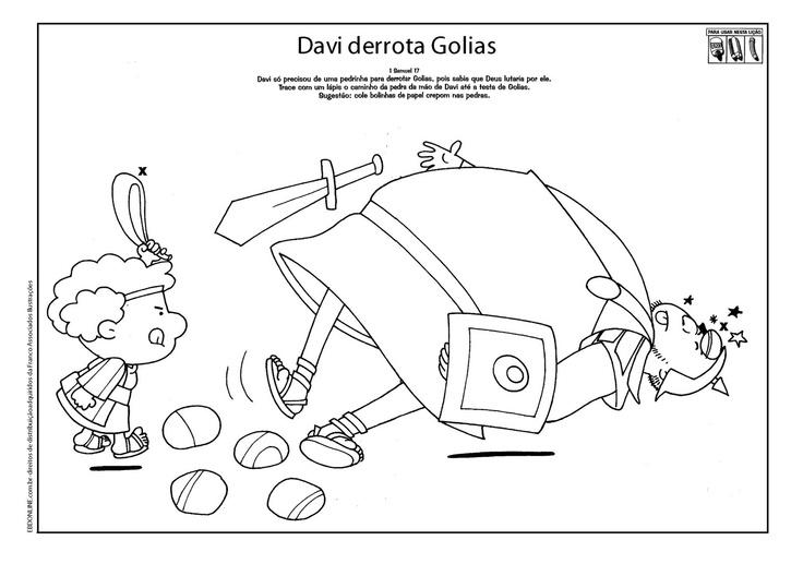 David Para Y Imprimir Dibujos Para De Historia Ninos Goliat Y
