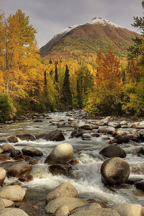 Little Susitna River, Hatcher Pass, Alaska; photo by Michael Criss. A good day trip from Anchorage.