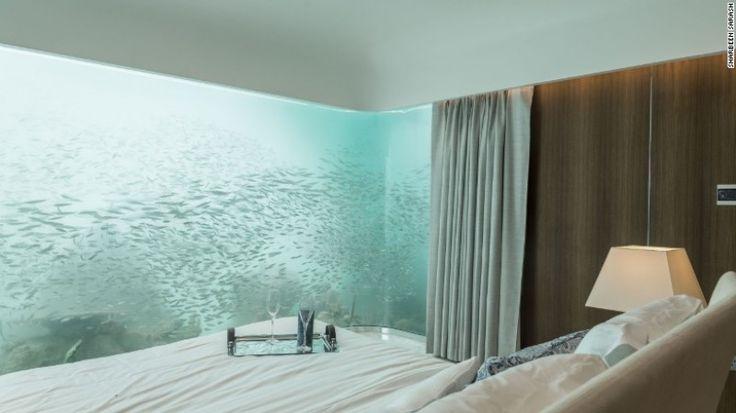 În cameră clientul poate experimenta senzaţia de prezenţă a vieţii marine în jurul său.