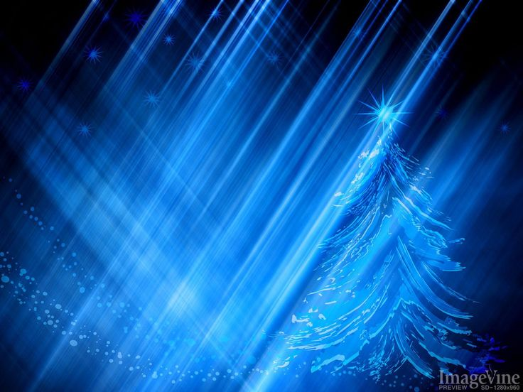 abstract christms tree sparkles and blue background