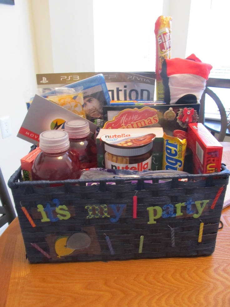 19th birthday gift basket! GIFT IDEAS Pinterest