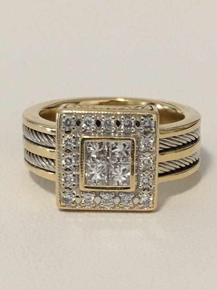 #jewelry Philippe Charriol Flame Blenche Yellow Gold 18K Diamond Ring Size 5.75 please retweet