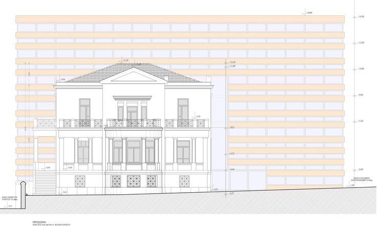 Nikolas Dorizas, Architect,  Tel: +30.210.4514048 Address: 36 Akti Themistokleous – Marina Zeas, Piraeus 18537. Μελέτη αποκατάστασης νεοκλασικού κτιρίου σχολείου με προσθήκη μοντέρνου τμήματος για επαγγελματική χρήση. Restoration of a neoclassical building, once used asschool premisses, with a modern building addition in the back. Purpose: offices