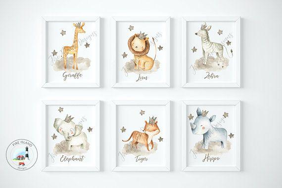 Nursery Prints Safari Animal