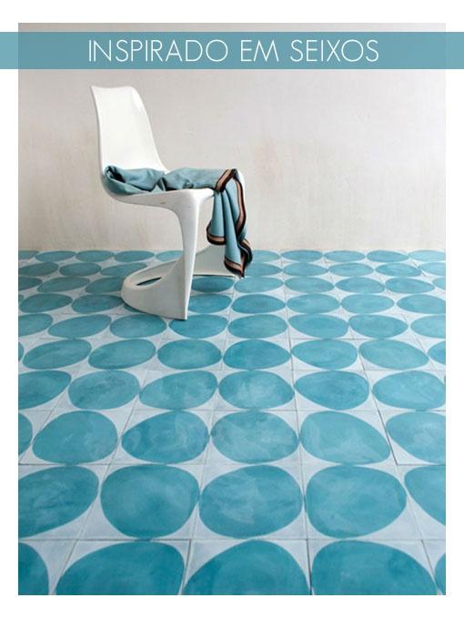 blue tiles flooring