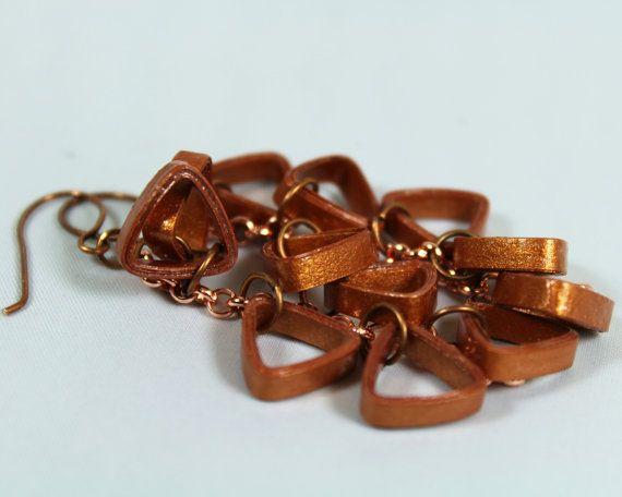 Cobre cobre pendientes de racimo pendientes joyas de cobre