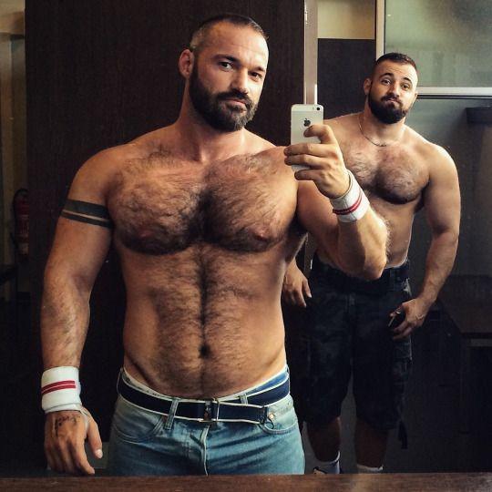 Masculine muscular hairy bear men-5989