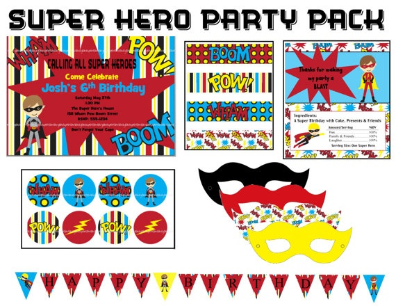 Super Hero Party Pack