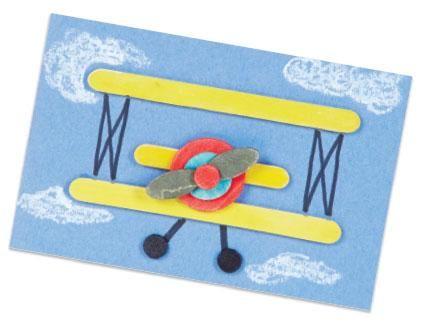 Craft Stick Biplane