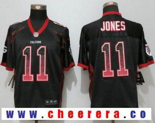 quality design 3c3bd ebeca Men's Atlanta Falcons #11 Julio Jones Black Drift Stitched ...