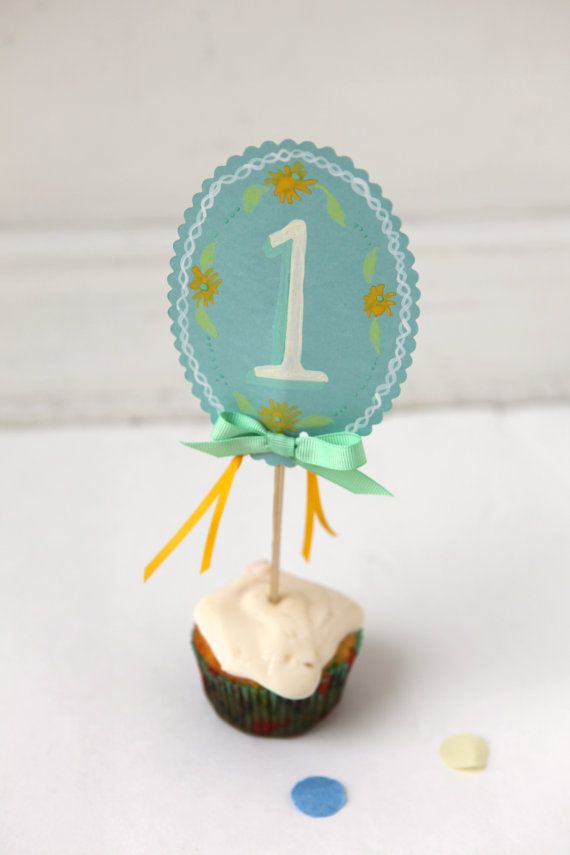 1 FIRST birthday cake or cupcake topper