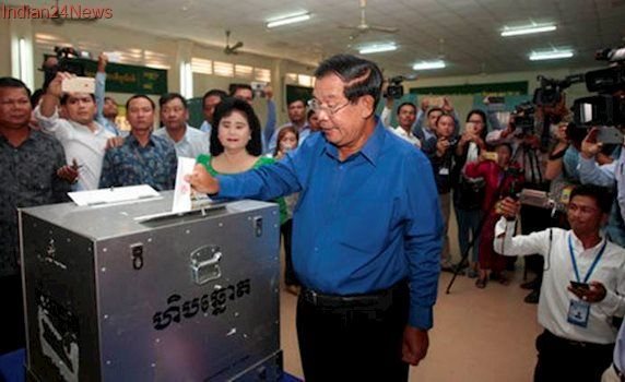 Cambodia election: PM Hun Sen says he's confident of keeping power after local vote