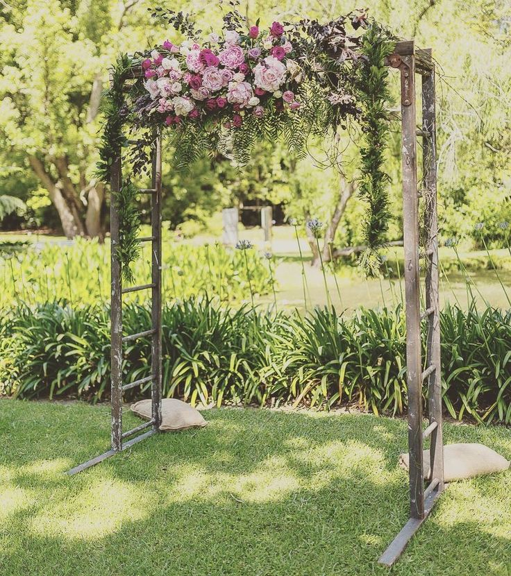 HIRE ONLY - Recycled Timber Ladder Wedding Arch. NSW Hire. Rustic Character.