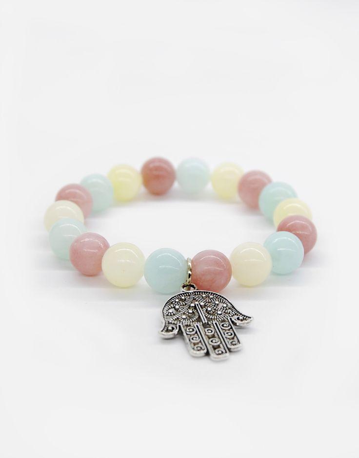 Bracelets / natural stone / boho style / fatima / charms / fashion