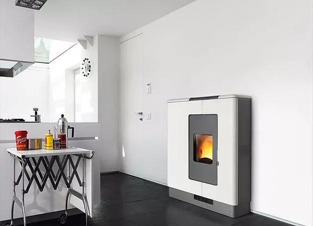 Piazzetta Pellet Heater P936 in Bianco Antico   White
