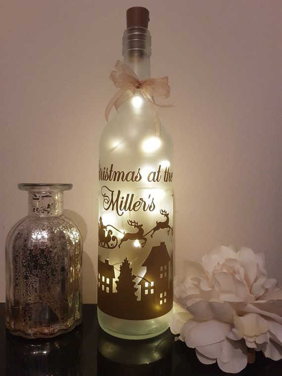 LED Star Light Up Bottles Gift with  a Fairy  in a woodland scene.