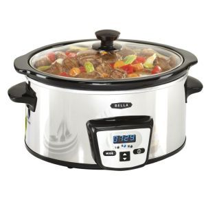Bella Programmable Digital Slow Cooker:  Who says slow cookers have to be expensive? This is one affordable slow cooker that may not have the advanced functions of a $200 cooker but it does get the job done. It can get you well-cooked meals without any issues; all you'll need to do is set the timer.