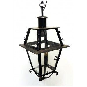 Classica lanterna ad otto vetri per esterno con porticina. Realizzata a mano