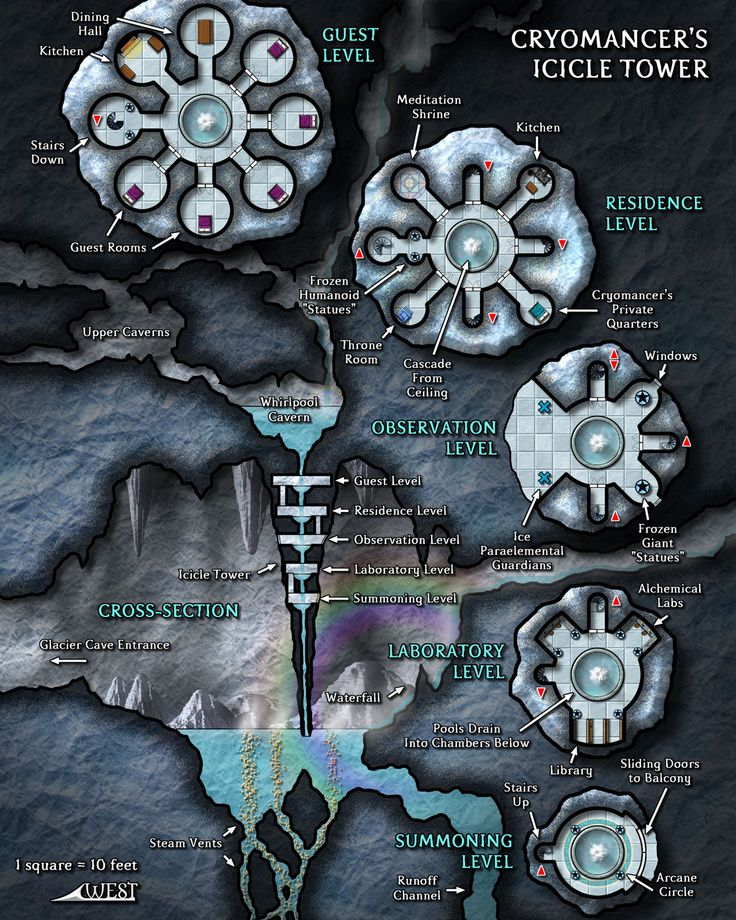The Cryomancer's Icicle Tower was a fan-favorite Map of Mystery from Dungeon Magazine.