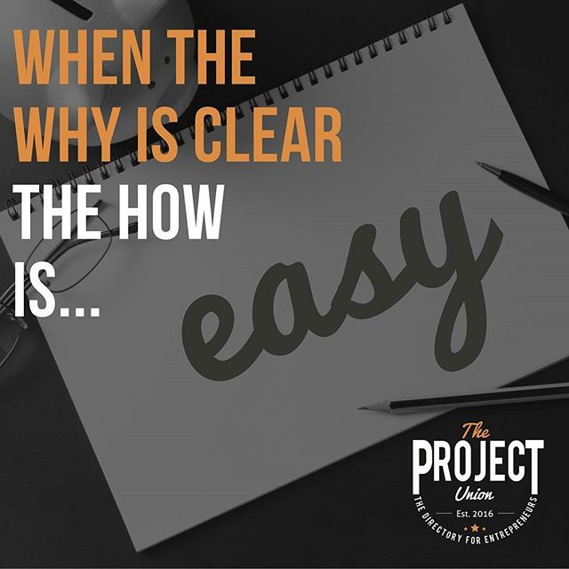 Find your why and then the rest is easy   #theprojectunion