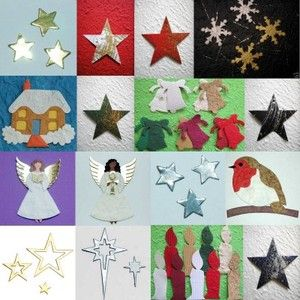 CHRISTMAS mulberry card die cut TOPPER angel ROBIN star CANDLE bell SNOWFLAKE | eBay