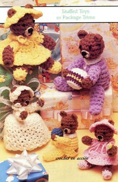 Crochet En Acción: Osos bebés